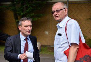 Oberbürgermeister Geisel im Gespräch mit Bezirksbürgermeister Thomas